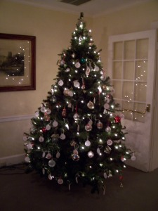 That's the giving tree- Can you see all the paper ornaments?