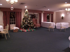 This room had Santa Paws and a photographer and characture artists