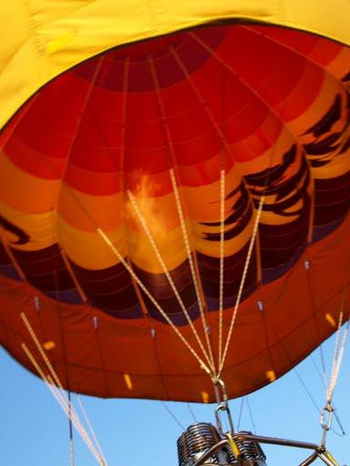fire in balloon