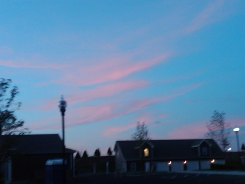 The sky was getting so pink!
