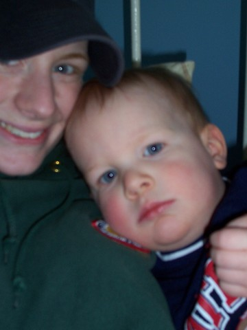 Mommy and one of her newphes Collin a few years ago