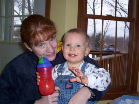 Collin again with Mommy (Collin just turned 6 now)