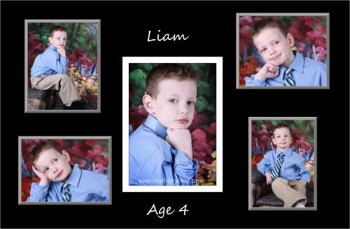 Liam turned 4 in March