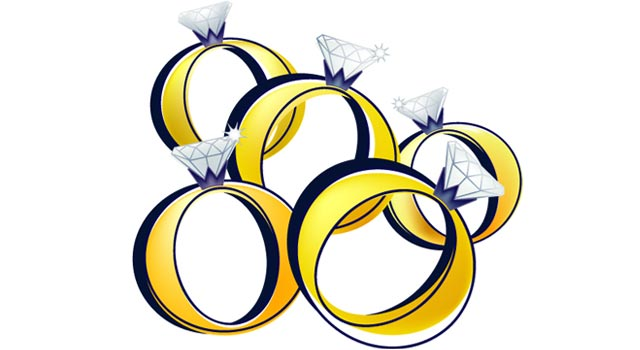 5 gold rings